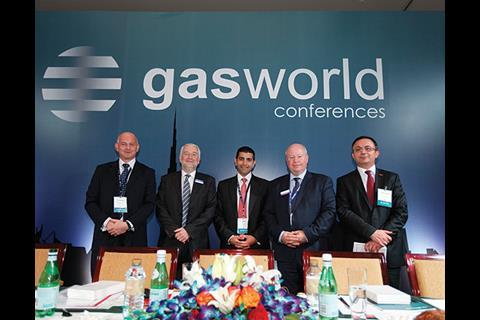 Speakers from Session 1, Day 1 of the gasworld conference in Dubai.